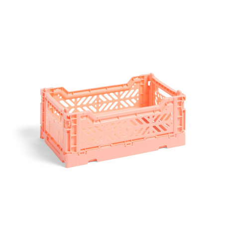 HAY Crate Color Crate S plástico rosa 26,5x17x10,5cm
