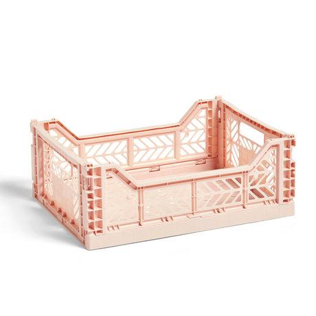 HAY Crate Color Crate M plástico rosa claro 40x30x14.5cm
