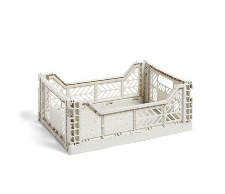 HAY Crate Color Crate M light gray plastic 40x30x14.5cm