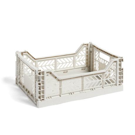HAY Crate Color Crate M plastica grigio chiaro 40x30x14,5cm