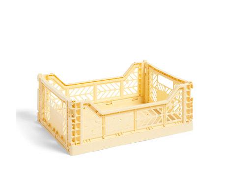 HAY Crate Color Crate M plastique jaune clair 40x30x14.5cm