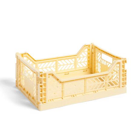 HAY Crate Color Crate M plástico amarillo claro 40x30x14.5cm