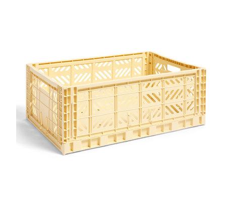 HAY Crate Color Crate L plastique jaune clair 60x40x22cm