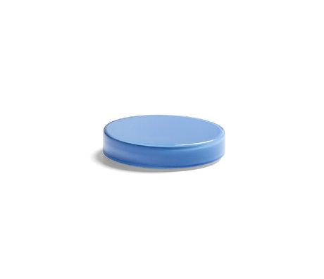 HAY Scatola portaoggetti Bits and Bobs Color XS vetro blu Ø8x1,5cm