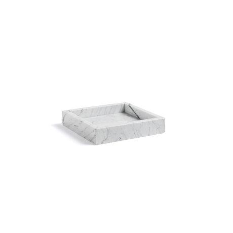 HAY Tray Marble Tray S light gray marble 22x22x4.5cm