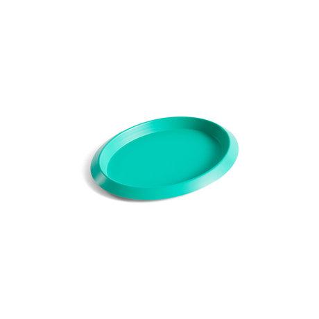 HAY Plateau Ellipse Tray XS acier vert 16x12,5x1,5cm