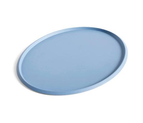 HAY Tray Ellipse Tray XL light blue steel 47x37x1.5cm