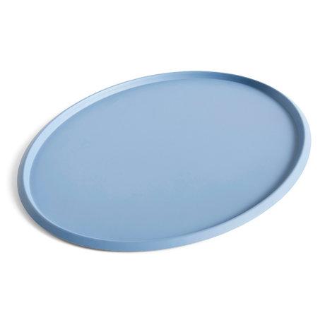 HAY Plateau Ellipse Tray XL acier bleu clair 47x37x1,5cm