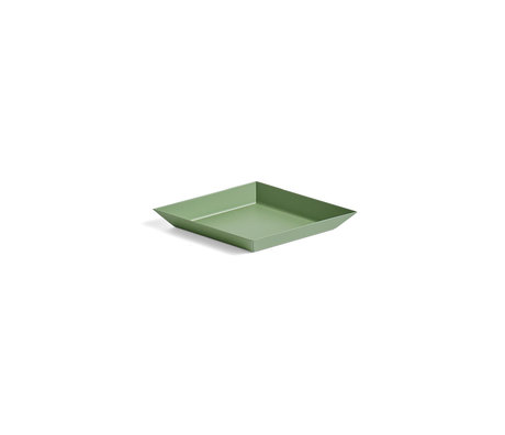 HAY Plateau Kaleido XS acier vert olive 19x11cm