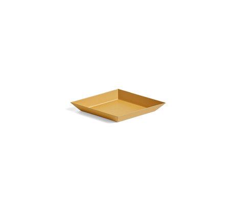 HAY Tablett Kaleido XS gelber Stahl 19x11cm