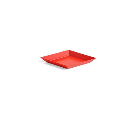 HAY Vassoio Kaleido XS acciaio rosso 19x11cm