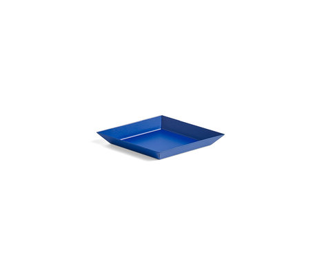 HAY Vassoio Kaleido XS acciaio blu 19x11cm