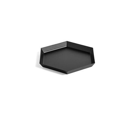 HAY Tablett Kaleido S schwarzer Stahl 22x19cm