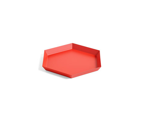 HAY Tablett Kaleido S roter Stahl 22x19cm