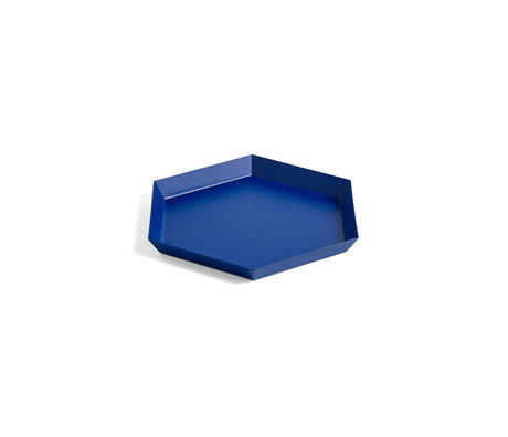 HAY Tablett Kaleido S blauer Stahl 22x19cm