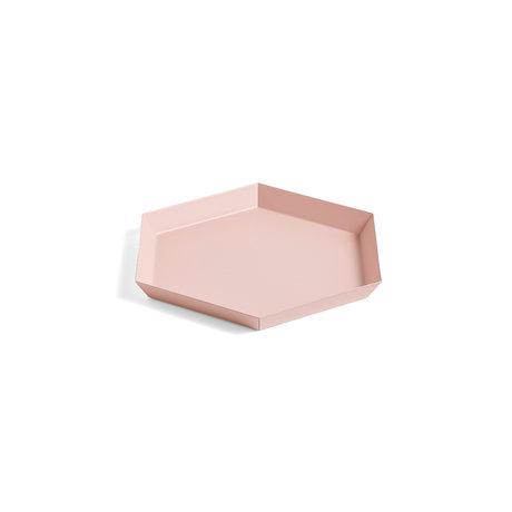 HAY Tablett Kaleido S rosa Stahl 22x19cm