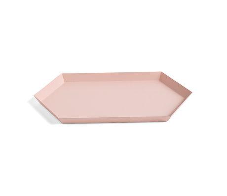 HAY Tablett Kaleido M rosa Stahl 33,5 x 19,5 cm