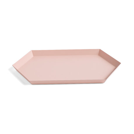 HAY Bandeja Kaleido M acero rosa 33.5x19.5cm
