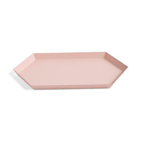 HAY Vassoio Kaleido M rosa acciaio 33,5x19,5 cm