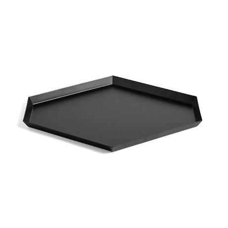 HAY Tablett Kaleido L schwarzer Stahl 39x34cm