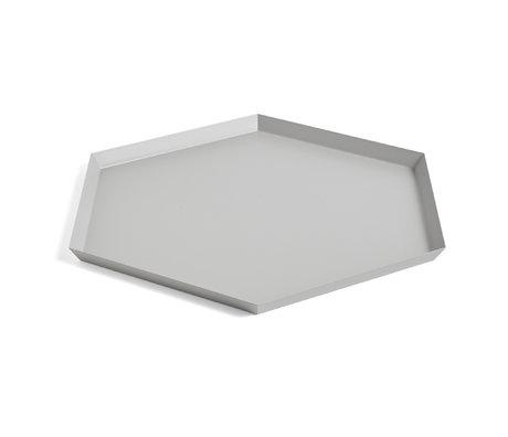 HAY Tablett Kaleido XL grauer Stahl 45x39cm