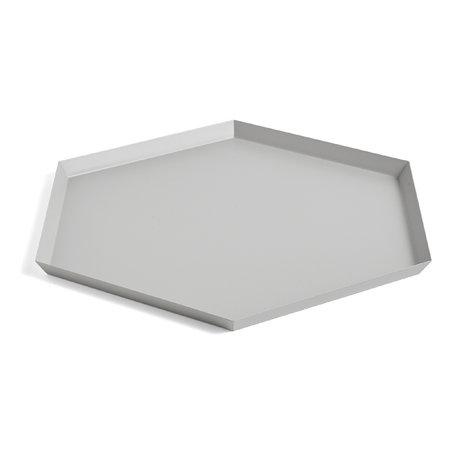 HAY Vassoio Kaleido XL in acciaio grigio 45x39cm