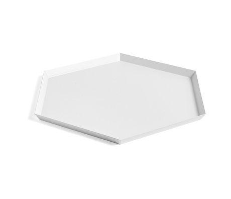 HAY Tablett Kaleido XL weißer Stahl 45x39cm