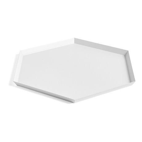 HAY Vassoio Kaleido XL acciaio bianco 45x39cm