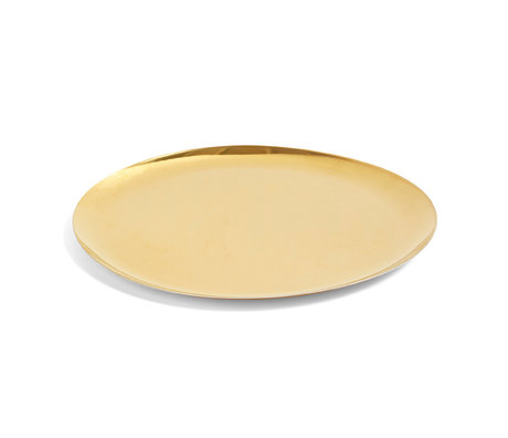 HAY Bandeja de servicio XL acero dorado Ø35cm