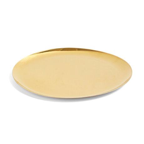 HAY Serving Tray XL gold steel Ø35cm