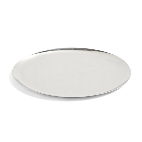 HAY Serving Tray XL silver steel Ø35cm