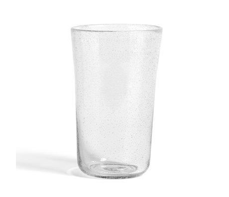 HAY Vase Bubble L transparentes Glas Ø16x26cm