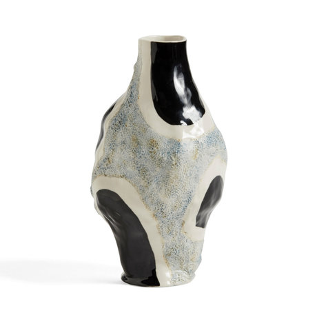 HAY Vase Glossy Cow gray black stone Ø15x27cm