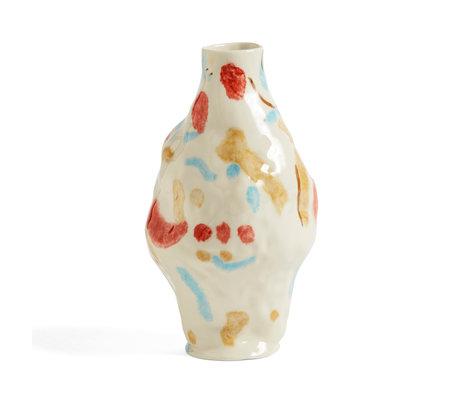 HAY Vaso Miro pietra multicolore Ø15x27cm
