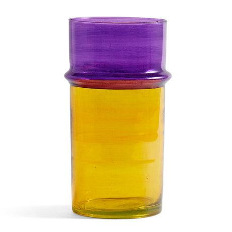 HAY Vase Marokkanisch L gelbes Glas Ø14x29cm