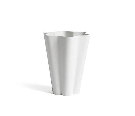 HAY Vaso Iris L ceramica bianca Ø14x17cm