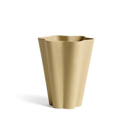 HAY Vaso Iris L ceramica gialla Ø14x17cm