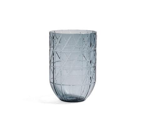 HAY Vase Color L verre bleu Ø13,5x19cm