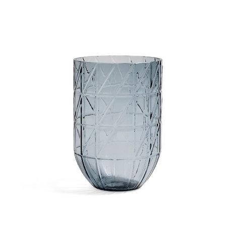 HAY Vasenfarbe L blaues Glas Ø13,5x19cm