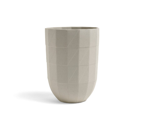 HAY Vaso Paper Porcelain L in ceramica grigio chiaro Ø14x19cm