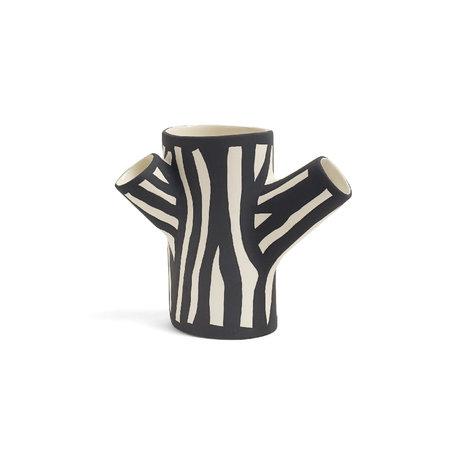 HAY Vase Tree Trunk S white earthenware 15cm