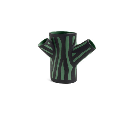 HAY Vase Tree Trunk S dark green earthenware 15cm