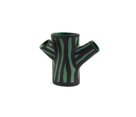 HAY Vaso Tronco d'albero S terracotta verde scuro 15cm