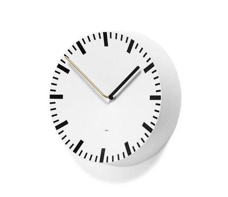 HAY Orologio da parete analogico in alluminio bianco Ø27x6,5cm