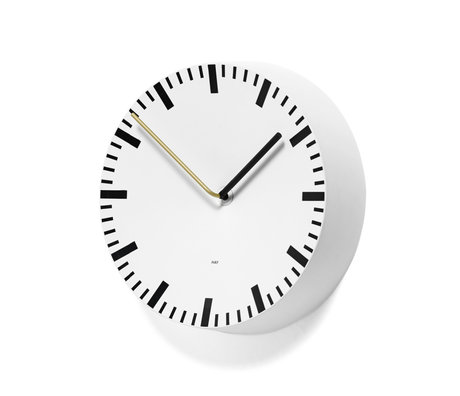 HAY Wall clock Analog white aluminum Ø27x6.5cm