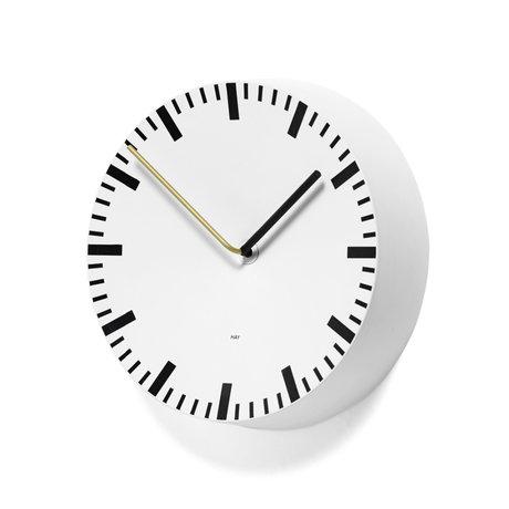 HAY Horloge murale analogique aluminium blanc Ø27x6,5cm