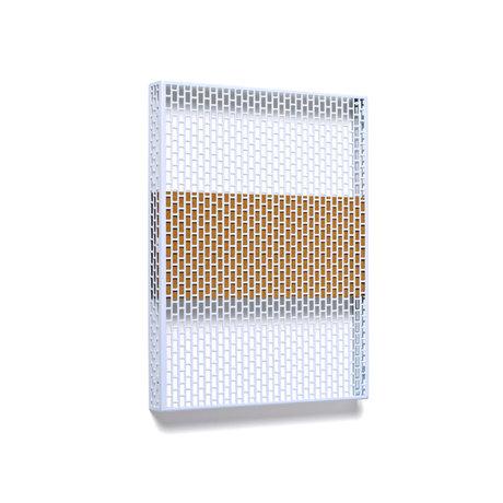 HAY Placa de pared Pinorama S acero celeste 37x50cm