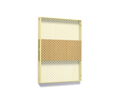 HAY Wall plate Pinorama S mustard yellow steel 37x50cm