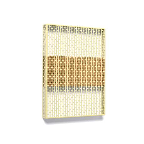 HAY Piatto da parete Pinorama S in acciaio giallo senape 37x50cm