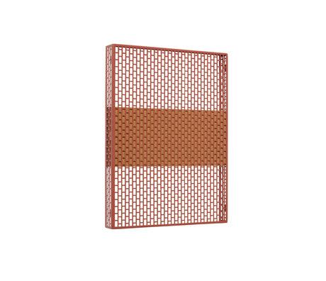 HAY Piatto da parete Pinorama S terracotta acciaio 37x50cm